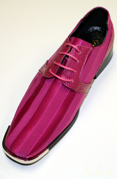 17003 MENS FUSCHIA LACE UP DRESS SHOES IT'S ONE OF A KIND
