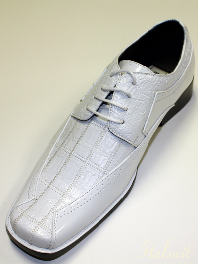 2236007 MENS WHITE LACE UP DRESS SHOES IT'S ONE OF A KIND