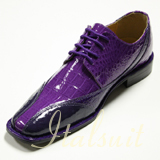 5754 MENS D.PURPLE WITH LT.PURPLE LACE UP DRESS SHOES IT'S ONE OF A KIND